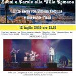 12 luglio 2015 CONCERTO VILLA ROMANA